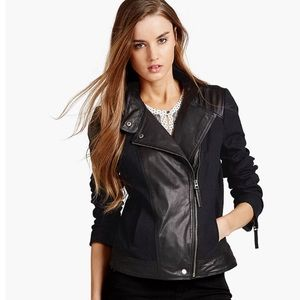 Lucky Brand Leather Mix Jacket